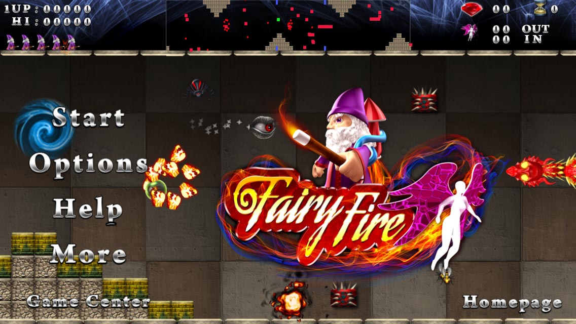 Fairy Fire - Title Screen