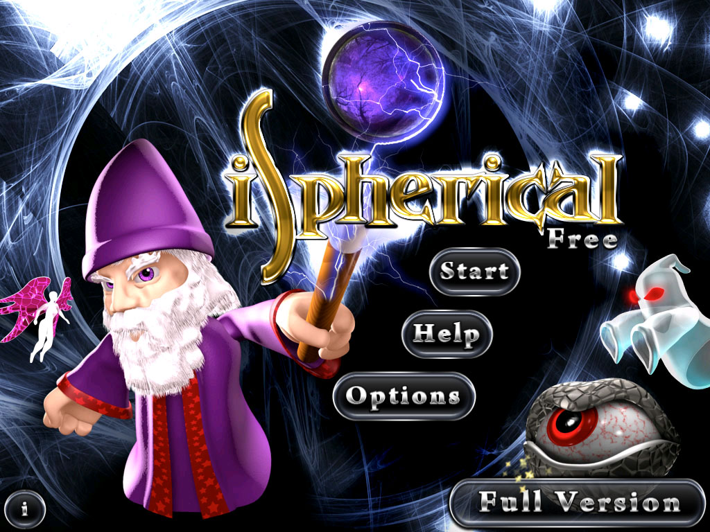iSpherical - Title screen