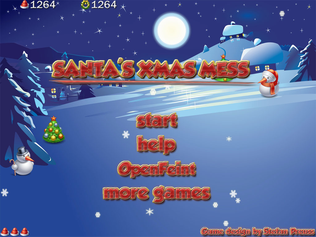 Santa's Xmas Mess - Title Screen