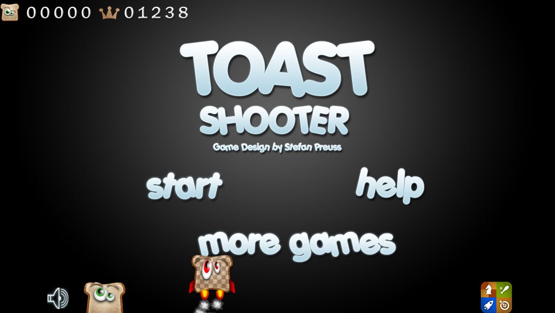 Toast Shooter - Start menu